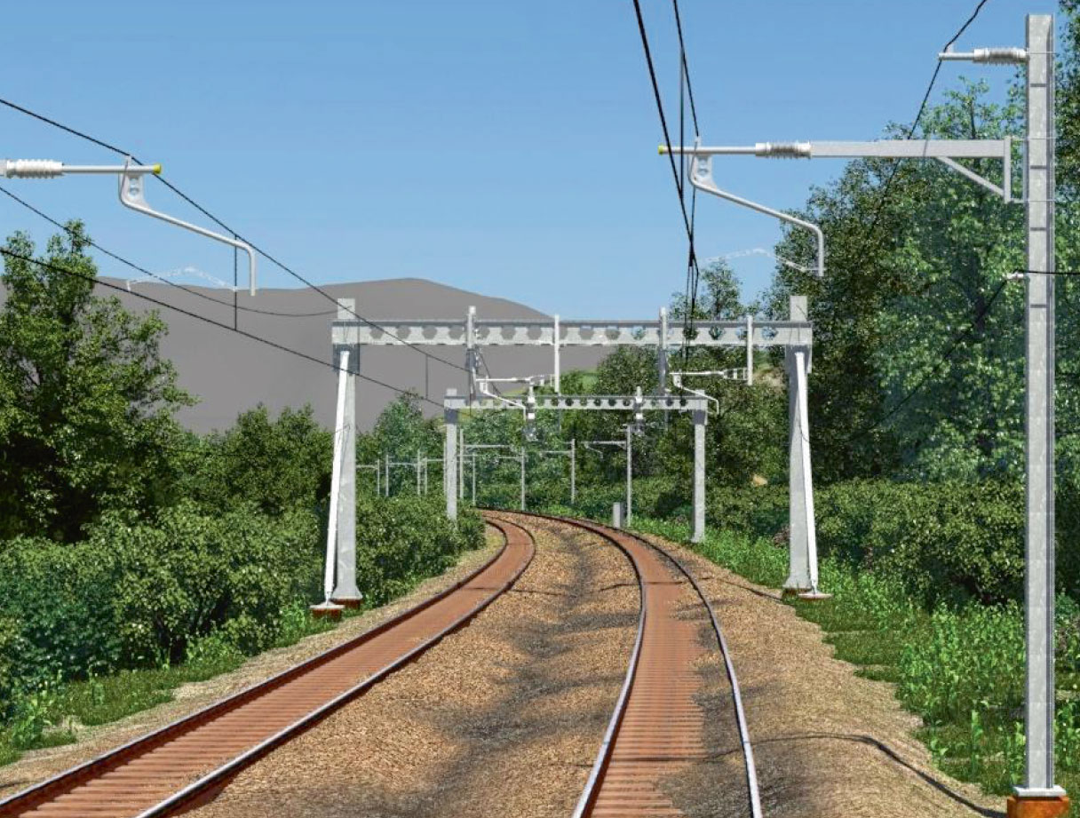 Furrer Frey Overhead Contact Lines Series 1 Plans For Train Track Wiring Single Span Overlap